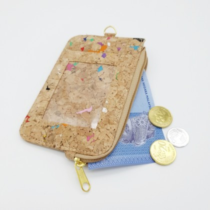 Cork Coins Purse, ID Wallet Lanyard Badge Holder Handmade Eco-Friendly & Sustainable