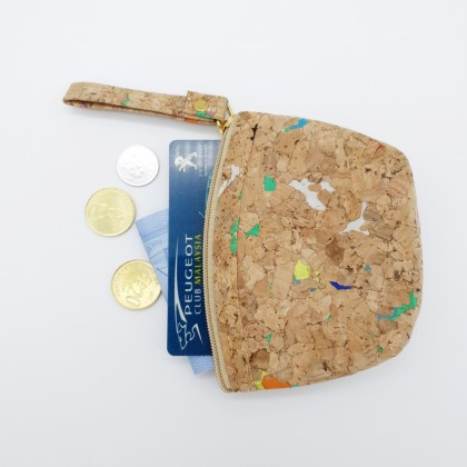 Cork Small Coins Bag Handmade Eco-Friendly & Sustainable Material, Great For Vegan