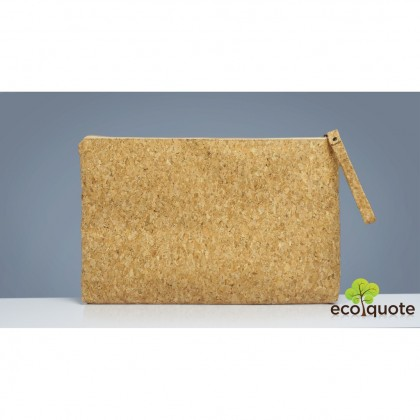 "Cork Laptop Pouch 15"" Sleeve Wristlet Handmade Eco-Friendly & Sustainable Materials"