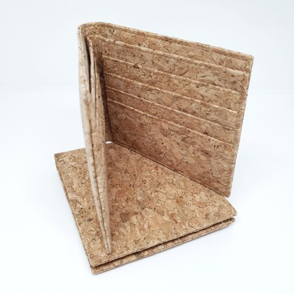 Cork Bi Fold Wallet Handmade Eco-Friendly & Sustainable Material, Great for Vegan