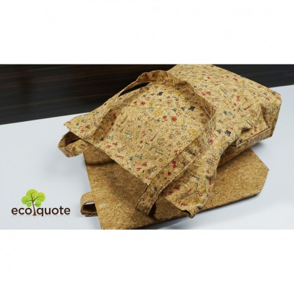 EcoQuote Tote Bag Handmade Cork Eco-Friendly & Sustainable Material Great for Vegan