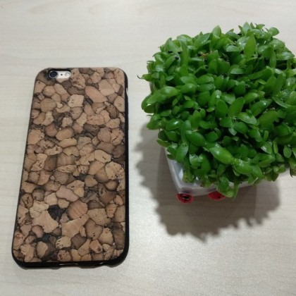 EcoQuote iPhone 6 Plus / 6s Plus Handmade Phone TPU Cork Case Finishing Vegan