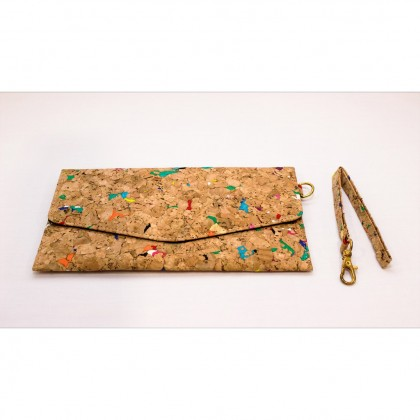 Cork Mini Pouch Wristlet Stylish Handmade Eco-Friendly & Sustainable Materials