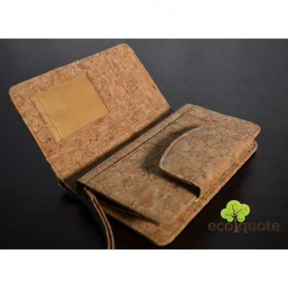Cork Long Wallet Wristlet Handmade Eco-Friendly & Sustainable Materials