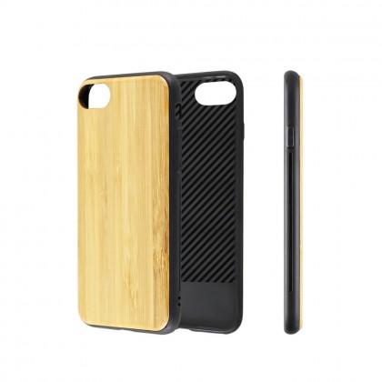 EcoQuote iPhone 7 / 8 Handmade Bomboo +Flexi TPU Phone Case  Finishing For Vegan