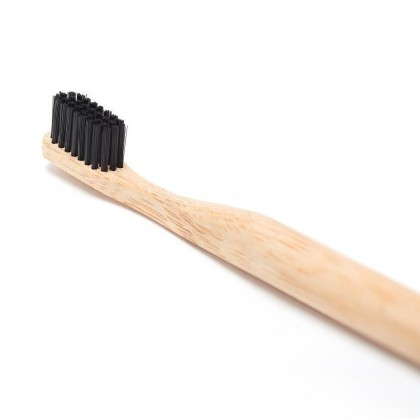 Charcoal Infused Bamboo Toothbrush Biodegradable Handmade Eco-Friendly & Sustainable