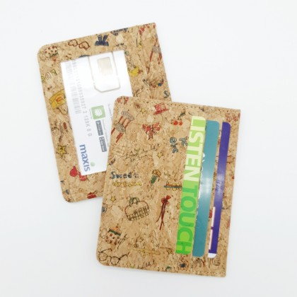 Cork Simple Card Holder Handmade Eco-Friendly & Sustainable Materials, Great for Vegan