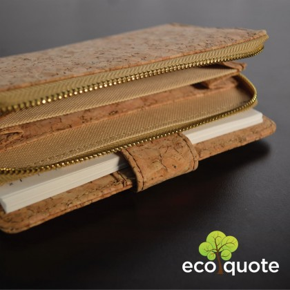 EcoQuote Notebook Deluxe Handmade Cork Eco Friendly Material For Vegan