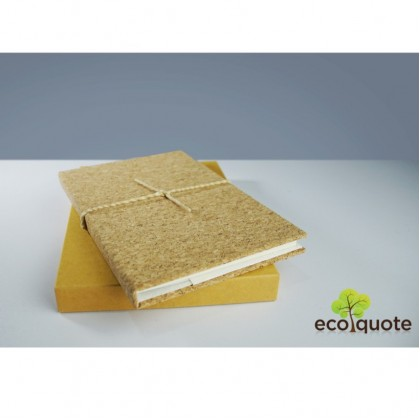 EcoQuote Notebook Handmade Eco-Friendly Cork Material & Sustainable