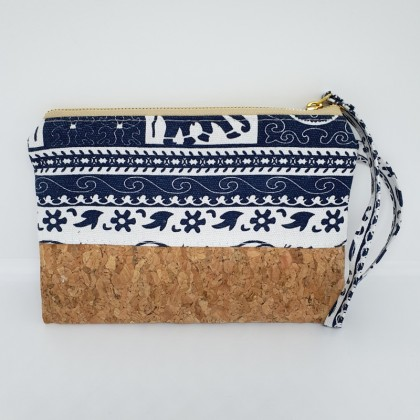 Pouch Bag Square Wristlet Handmade Cork Material, Eco-Friendly & Sustainable