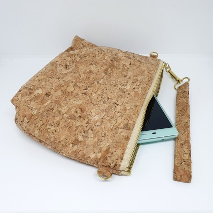EcoQuote Sling Pouch Wristlet Bag Handmade Cork Eco-Friendly & Sustainable Material