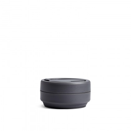 READY STOCK!! Original Stojo Collapsible Pocket Cup Biggie - Brooklyn Collection Carbon