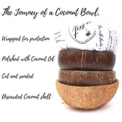 Coconut Bowl Natural, Handmade Eco-Friendly & Sustainable Material
