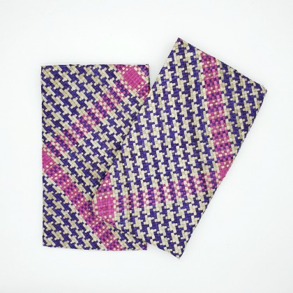 Pandan Leaves Clutch or Evening Bag, Handmade Quilted Eco-Friendly & Sustainable