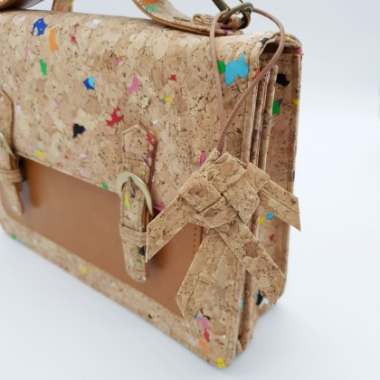 Cork Taphian Fish Keychain Also Can Be Charm For Handbag Handmade Eco-Friendly
