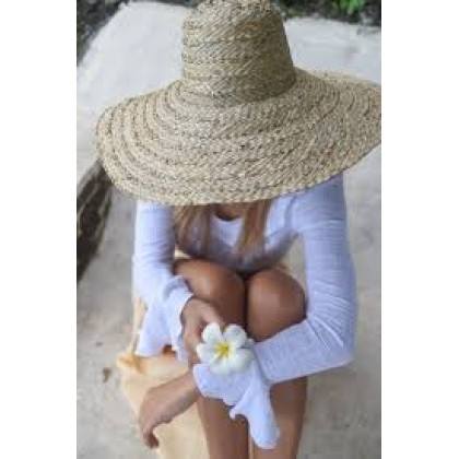 Pandan Leaves Boater or Panama Hat Handmade Quilted Eco-Friendly & Sustainable
