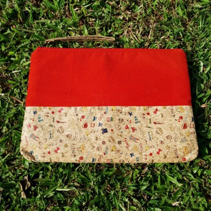 Cork iPad Pro, eReader, Kindle or Tablet Pouch Sleeve Wristlet Handmade Eco-Friendly & Sustainable