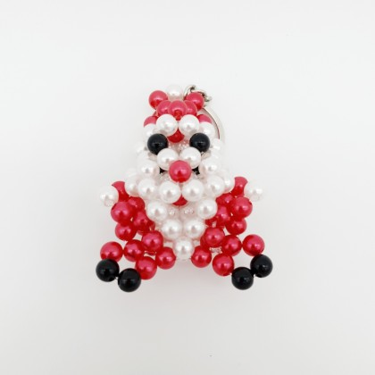 Beaded Handmade Crafts Christmas Series 3D Keychain, Charms For Handbag or Wallet