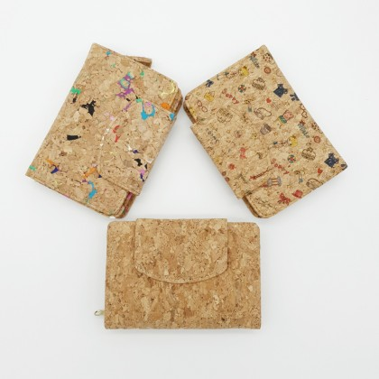 Cork Wallet Compact Handmade Eco-Friendly & Sustainable Material