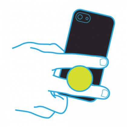Bamboo PopSocket Pop Socket Expanding Stand, Grip, Holder For Smartphones And Tablets
