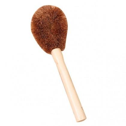 Coconut Fiber Pot, Bowl or Pan Kitchen Wash Brush Long Hand Non-Stick Eco-Friendly