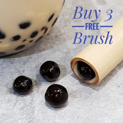 Bamboo Big Straws Buy 3 Free 1 Cleaning Brush for Bubble Tea Eco-Friendly  ~ An End to Plastic