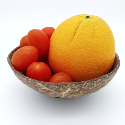 Coconut Snack Plate Fruit Bowl With Base Handmade Natural & Eco-Friendly Materials, Reusable & Biodegradable