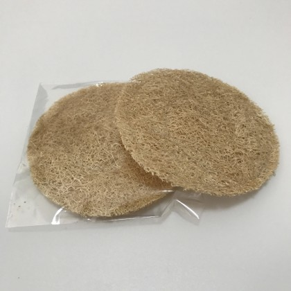 Loofah Luffa Fiber Tea Cup Coaster Pad Mats Set of 3 Round Shape Eco-Friendly & Zero-Waste