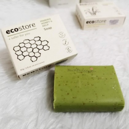 ecostore Manuka Honey & Kelp Soap Set With Sisal Soap Bag Pouch Natural, Eco-Friendly