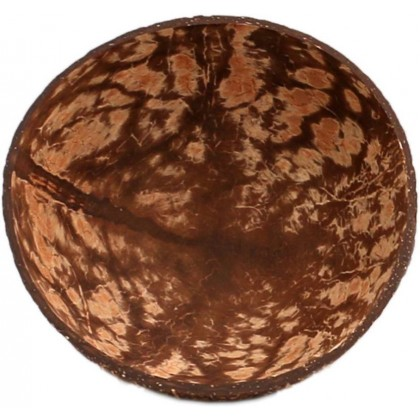 Coconut Snack Plate Fruit Bowl Set of 2 With Base Handmade Eco-Friendly Natural
