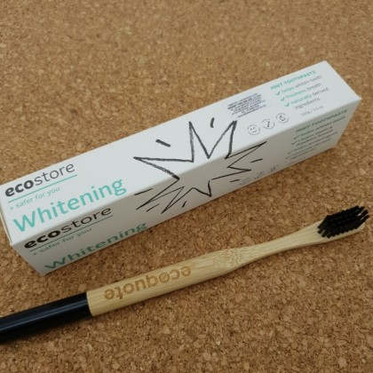 ecostore Whitening Toothpaste Bamboo Toothbrush Set Natural, Eco-Friendly