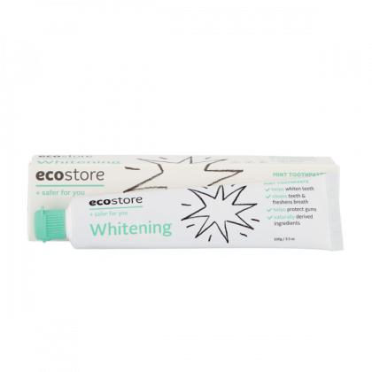 ecostore Whitening Toothpaste 100g Bamboo Toothbrushes Family Set Eco-Friendly