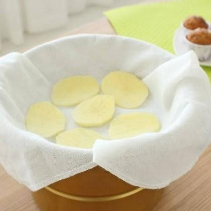 Organic Cotton Steamer Cloth Steamed Bread Dumplings Rice Mantou Desserts Dim Sum Reusable Eco-Friendly