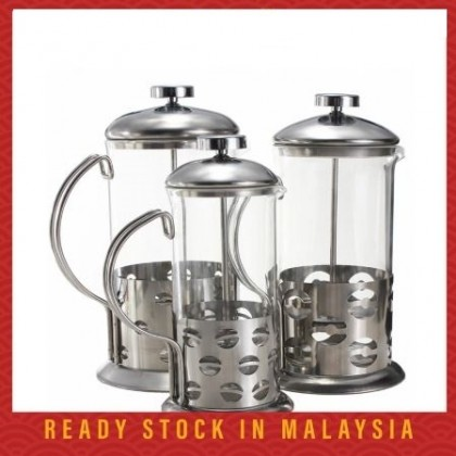 French Press Stainless Steel Coffee Plunger Tea Teapot Maker Percolator Filter Press Cover