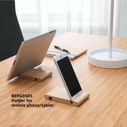 IKEA BERGENES Bamboo Holder For Mobile Phone, Cell Phone or Tablet Eco-Friendly