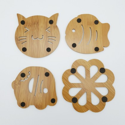 Bamboo Placemat Coaster Place Mat Animal Design Natural Eco-Friendly & Durable Materials