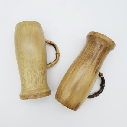 Bamboo Glass For Beer Handmade Craft 500ml Eco-Friendly & Sustainable