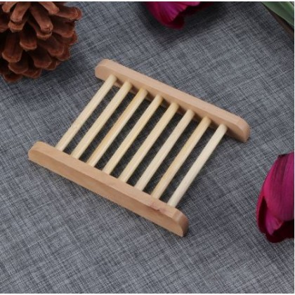 Natural Bamboo Soap Dish Tray Holder Storage Soap Rack Container, Keep Your Soap Dry
