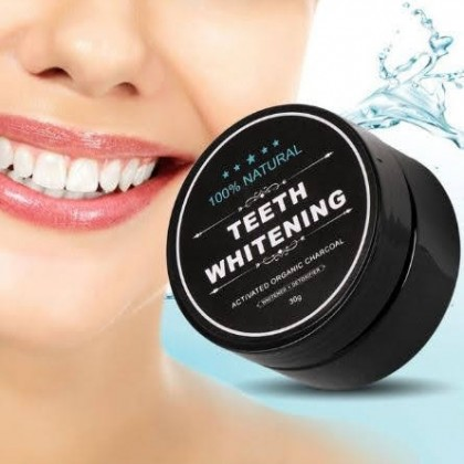 Teeth Whitening Powder Organic Charcoal Bamboo All Natural & Eco-Friendly