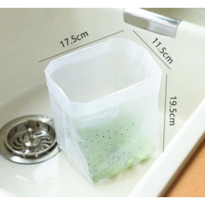 Kitchen Sink Drain Bag Filter 20pcs Garbage Filtering Self-standing Eco-friendly Sink Strainer Disposable