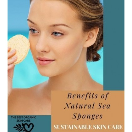 Natural Facial Sea Sponge Deep Cleaning Smoothing Skin Sustainable, Eco & Vegan-Friendly