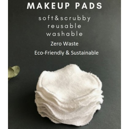 Makeup Make-Up Remover 16-Pack Bamboo Facial Cleansing Cloth Pads Eco-Friendly Organic Reusable