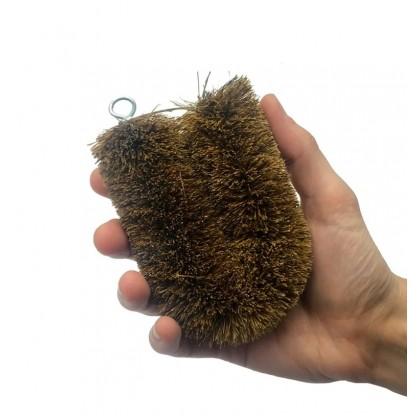 Coconut Fibre Scourer Scrubber Brush Round, All-Natural Coir & Eco-Friendly