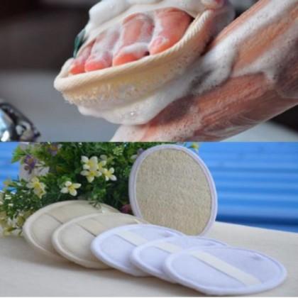 Loofah Scrubber Pad Exfoliating Loofah Sponge Brush Slide In 100% Natural & Eco-Friendly