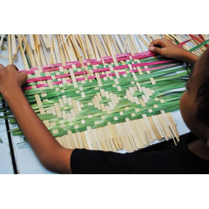 Bamboo Toothbrush Set With Pandan Leaves Carry Pouch Handmade Reusable & Eco-Friendly