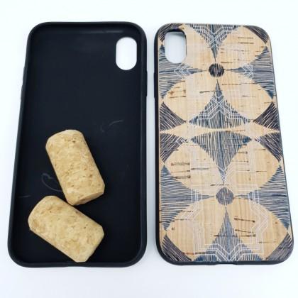 iPhone XR Cork Phone Case Soft Flexible TPU Windmill Pattern Eco-Friendly