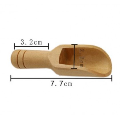 Wood Spice Spoon Mini Scope For Spice Sugar Tea Coffee Eco-Friendly & Sustainable
