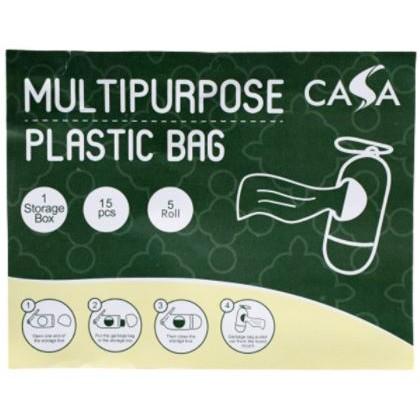Dog Poo Poop Bags 15pcs/Roll Litter Set 4-in-1, Multipurpose Waste Bags Set