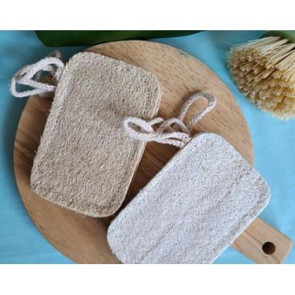 Natural Loofah Bath Facial Sponge Pad Hanging Rope 100% Organic Square Luffa Body Scrubber Exfoliation SPA Ec-Friendly Zero Waste