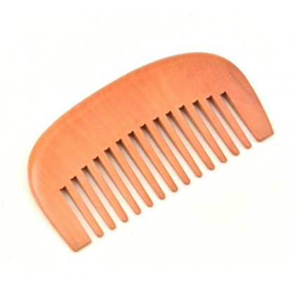 Bamboo Beard Hair Comb Anti-Static Mustaches Portable Styling Eco-Friendly